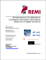 REMI CA Carbon Tax Study